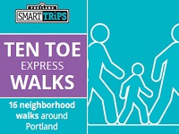 2019 Ten Toe Express. 16 Neighborhood Walks throughout inner-city Portland. FREE! Thursdays @ 6PM ~ Saturdays @ 9AM. Join the fun. Info Here!