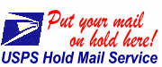 LEAVING ON VACATION OR BUSINESS? Whether you are on vacation or an unexpected business trip you can rest easy knowing your mail is safely held for you at your local Post Office. Put your mail on-hold with the USPS here!