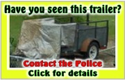 Did this used 5'x8' charcoal utility trailer appear at your neighbor's home recently? If so, call the police immediately! Stolen from NE 162nd & Multnomah March 8, 2013. Info here!