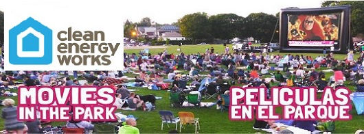 Movies in the Park 2015, sponsored by Clean Energy Works Oregon. Enjoy a free movies on us! Jul 11-Aug 22, 2015. Info here!