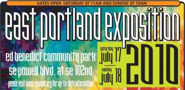 East Portland Exposition, July 17-18 2010 - A two day Multicultural Share Fair community event featuring 65+ exhibitors, lots of entertainment and food, free health testing, and free activities for children and families. Info here!