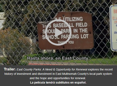 Click to view trailer!<br />  East County Parks: A Need &amp; Opportunity for Renewal: Sat Jun 02, 2018 10:30AM-12:00PM. Support our public parks! Info Here!