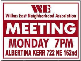 Wilkes East Neighborhood Meeting Signs. Info here!