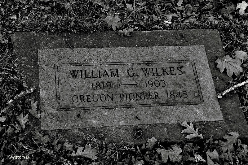 William C Wilkes, east Portland pioneer 1850's. Click to enlarge